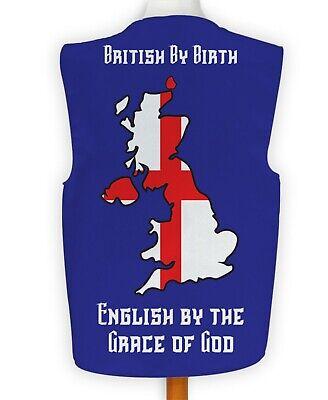 Lustige Neuheit Weste Britisch von Geburt st Georg Kostüm Spass Idee (Blaue Kostüme Ideen)