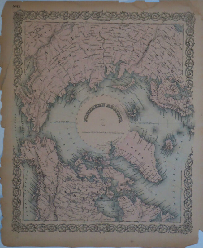 1855 Antique maps Eastern Hemisphere w/  Australia & Northern Regions. Colton