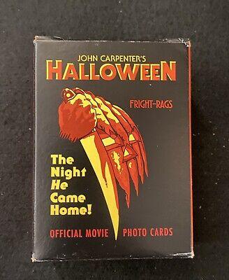 Halloween Trading Cards Fright Rags Michael Myers John Carpenter Horror Slasher