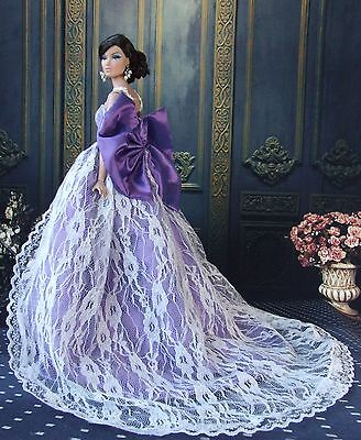 Purple Fashion Royalty Princess Party Dress/Clothes/Gown For Barbie Doll S153