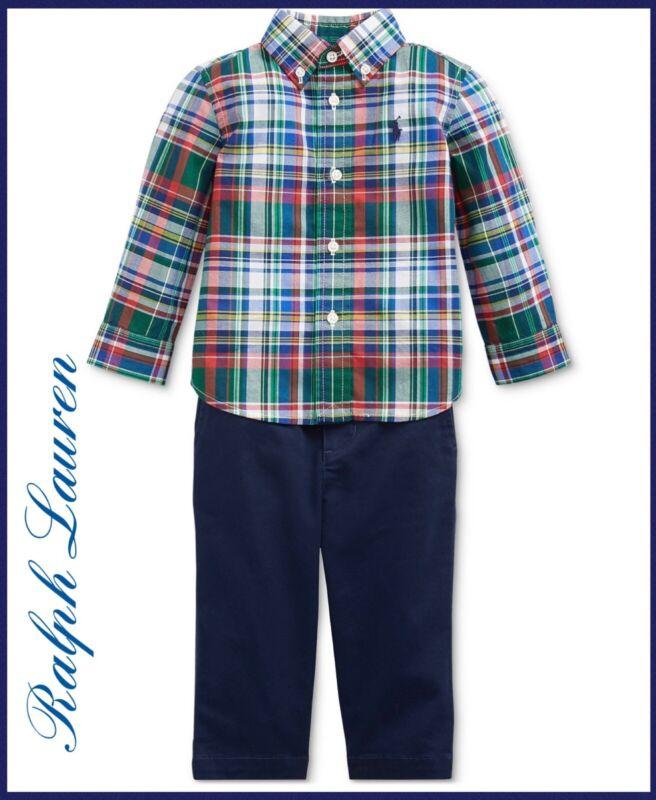 Polo Ralph Lauren Baby Boys Plaid Shirt And Pants