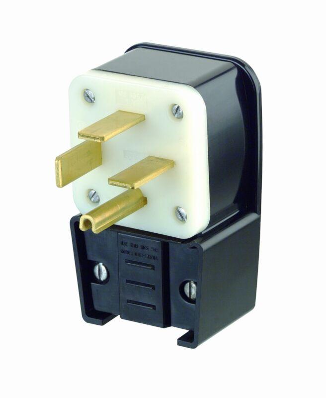 Leviton 8462-P 60 Amp, 250 Volt- 3PY, Straight Blade, Plug, Industrial Grade
