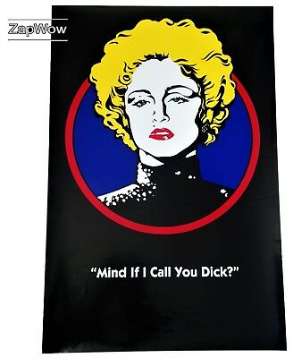 MADONNA BREATHLESS MAHONEY 1990 Dick Tracy Original Movie Poster Touchstone 90s