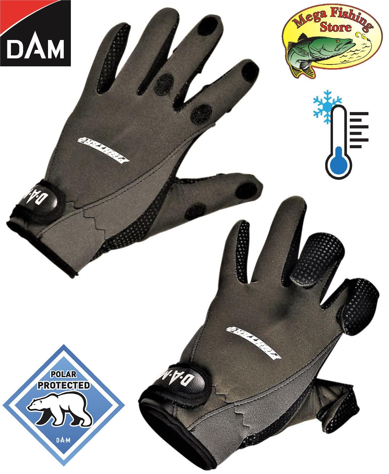 DAM Fighter Pro+ Neopren Handschuhe - Thermo Outdoor Anglerhandschuhe Angeln