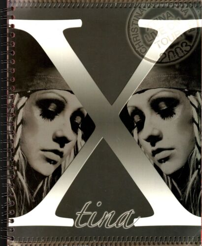 CHRISTINA AGUILERA 2003 STRIPPED TOUR CONCERT PROGRAM BOOK BOOKLET / EX 2 NMT