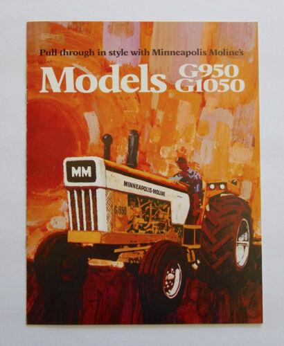1972 Minneapolis Moline Model G950 G1050 Tractor Brochure LP Gas Diesel
