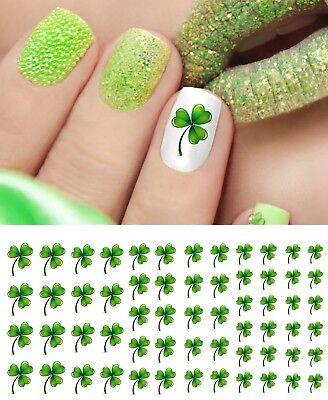 Shamrock Nail Art (St. Patrick's Day Shamrock Nail Art Waterslide Decals - Nail Salon Quality!)