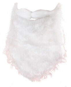 Santa Claus Father Christmas White Beard And Moustache Mens Fancy Dress Xmas