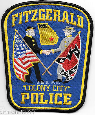 """Fitzgerald, GA  """"Colony City"""" (4.5"""" x 5.25"""") shoulder police patch (fire)"""