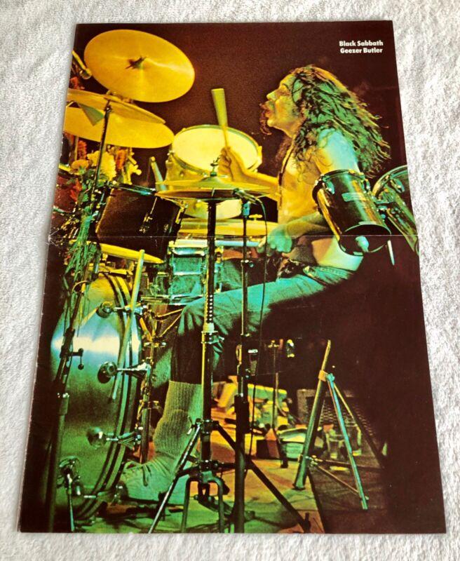 BILL WARD 1974 BLACK SABBATH DRUMMER Swedish Poster Magazine 1970s Vintage Rare