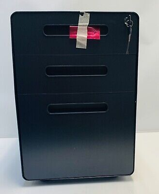 3-drawer Mobile File Cabinet With Anti-tilt Mechanism Legal