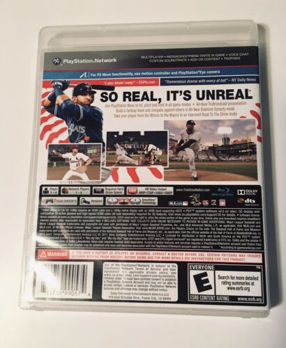 MLB 12 The Show Sony PlayStation 3, 2012  - $7.99