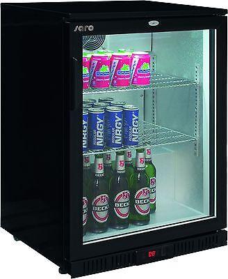 Bar Cooler 138 Liter Bardisplay Umluft Getränkekühlschrank Flaschenkühlschrank