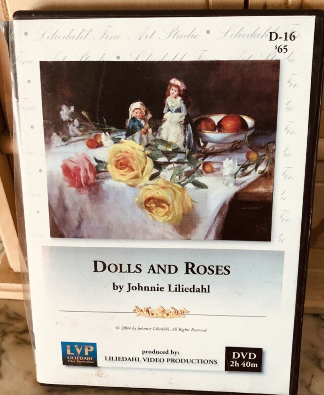 """Johnnie Liliedahl """"Dolls & Roses"""" instructionsl art video pre-owned"""