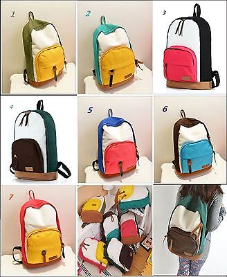 Free Shipping Casual Colorful Canvas Backpacks ON SALE (Students / Travel bag) - School Backpacks On Sale