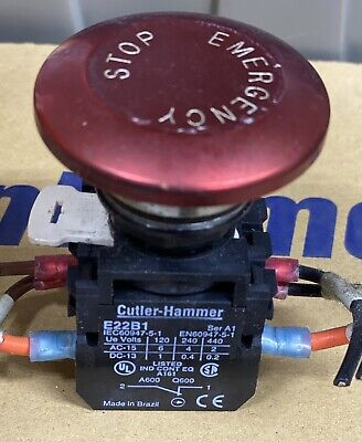 Cutler-hammer E-stopinterlock With E22b1 Nc E22b2 No And Push Button