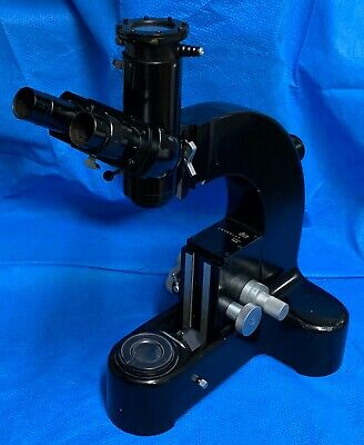 Vintage Black Leitz Ortholux Microscope Body Trinocular Head