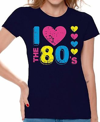 I Love the 80's T shirts Shirts Top for Women Women's 80s Party Costume Disco