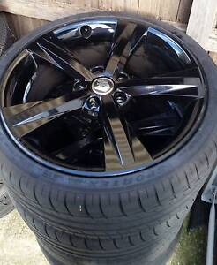 x4 Gloss Black Holden HSV VZ Clubsport Wheels with RWC Tyres Taylors Hill Melton Area Preview