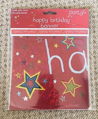 "2.6M RED PARTY ""HAPPY BIRTHDAY!"" BANNER / SASH"