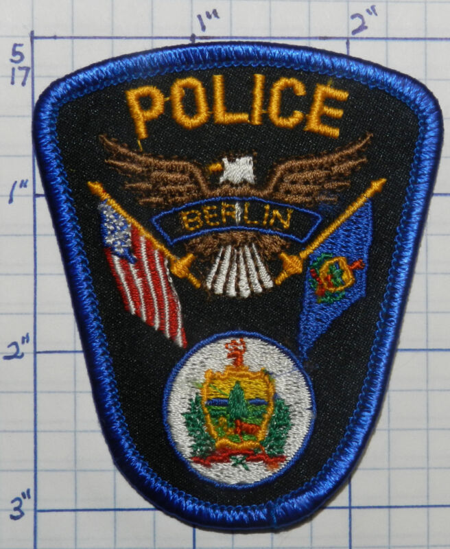 """VERMONT, BERLIN POLICE DEPT  3"""" SMALL PATCH"""