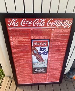 COCA COLA /FRAMED THE  HISTORY OF  Yarra Glen Yarra Ranges Preview