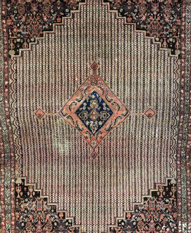 Malayer Moharramati - 1920s Antique Songhur Rug - Tribal Carpet - 4.3 X 6.4 Ft.