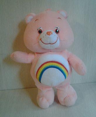 """2002 Pink Cheer Bear Care Bears Teddy Rainbow 10"""""""