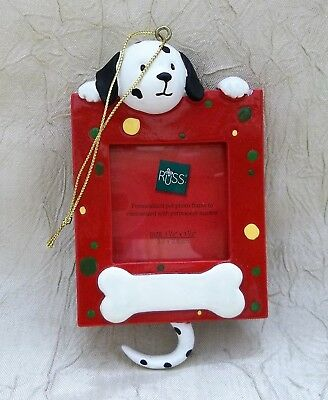 Wags To Whiskers Dog Photo Christmas Ornament Pet Holiday Russ Brand New In Box