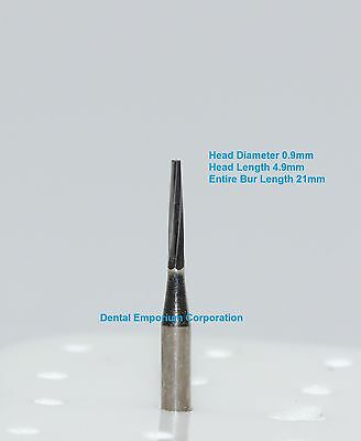 Dental Carbide Burs Fg 169l Tapered Fissure For High Speed Hp 10 Per Package