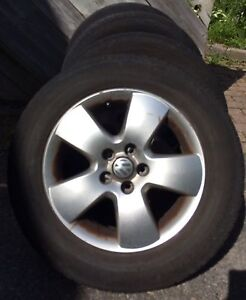VW mag rims with tires