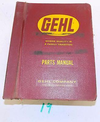 Large Gehl Master Parts Manual Harvester Shredder Grinder Mower Loader Mixer
