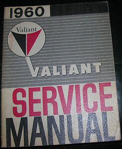 NICE-Mopar-60-Valiant-Service-Manual-VGC-1960-Plymouth-Nice-Shape-Factory-Book
