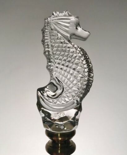 New Waterford Crystal Seahorse Lamp Finial