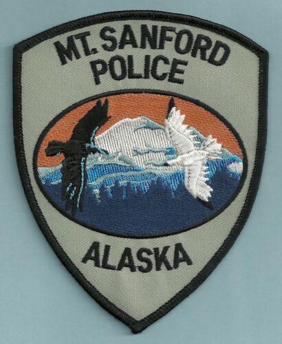 MOUNT SANFORD ALASKA TRIBAL POLICE SHOULDER PATCH