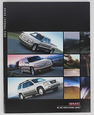 GMC 2003 Product Guide Sales Brochure / Literature