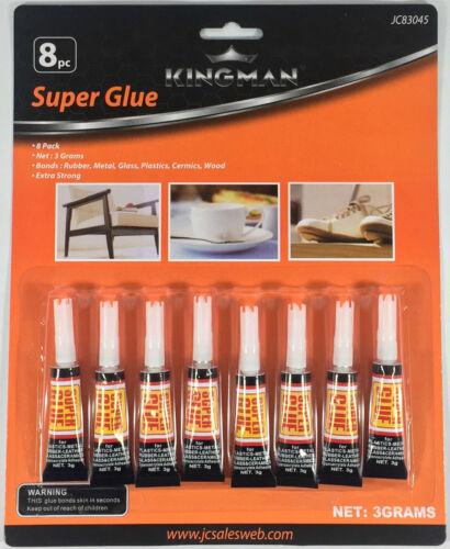8 Tubes Super Glue  Strong Adhesive CYANOACRYLATE 3 grams BU-83045