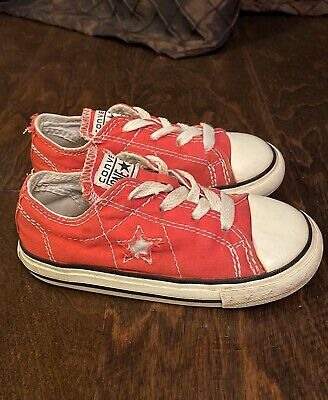 Converse All Star Chuck Taylor Red Shoes Low Top Sneakers Toddler Boy's Size 8C