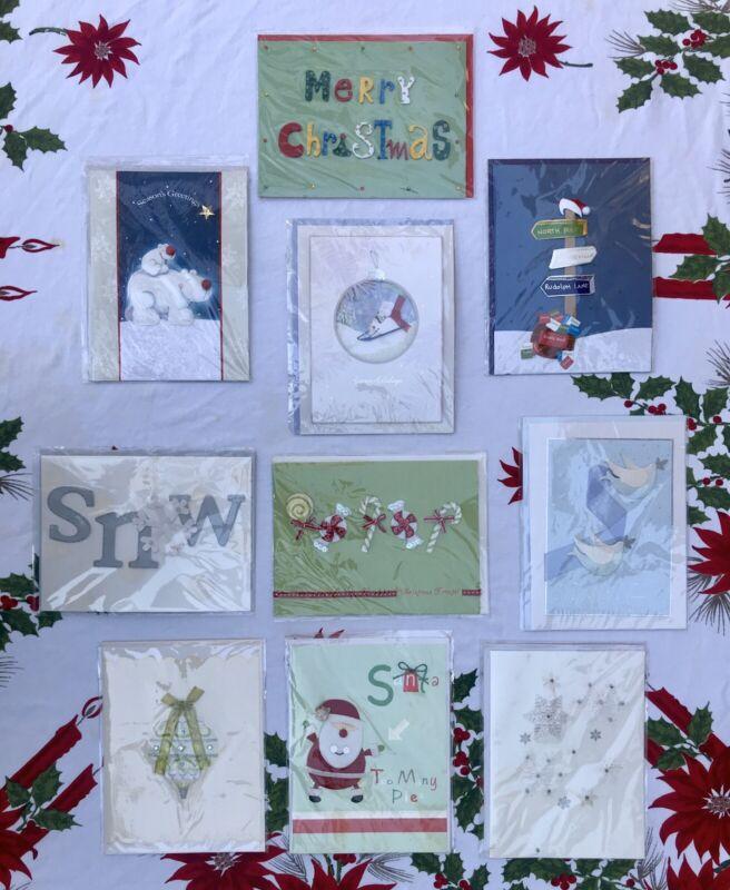 Lot of 10 BURGOYNE Christmas Cards ~ Decorative 3D Holiday