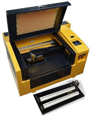 50w Co2 Laser Engraving Cutting Machine Laser Tube And Rotary Attachment Simple