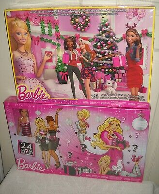 #10203 2 Barbie Advent Calendar 1 includes 24 Gifts & 1 includes 24 Gifts & Doll