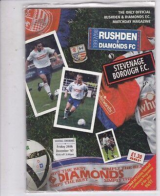 RUSHDEN & DIAMONDS  V STEVENAGE BOROUGH  CONFERENCE LEAGUE 26/12/97