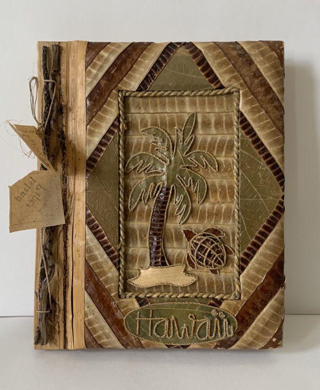 Handmade Hawaii Photo Album Natural Palm Leaves Fronds Souvenir