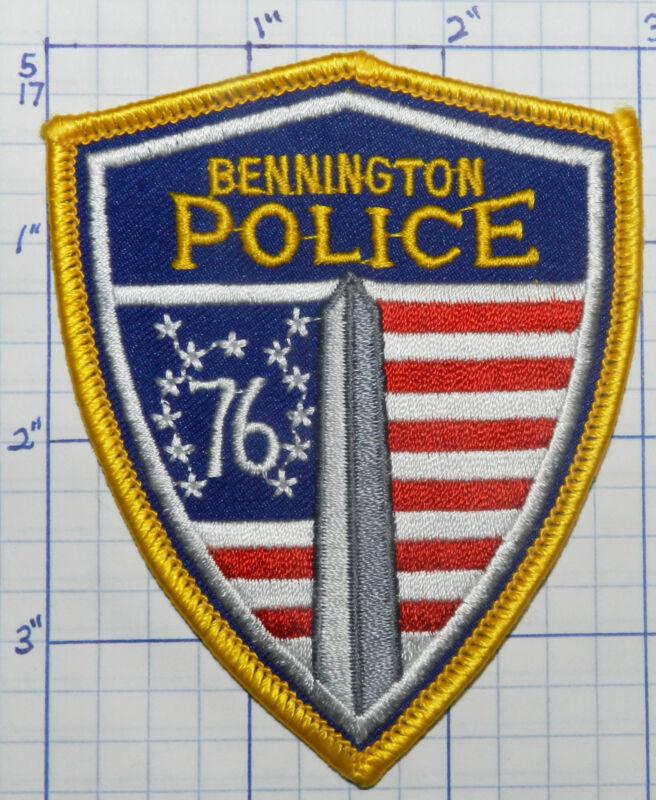 "VERMONT, BENNINGTON POLICE DEPT 3.75"" PATCH"