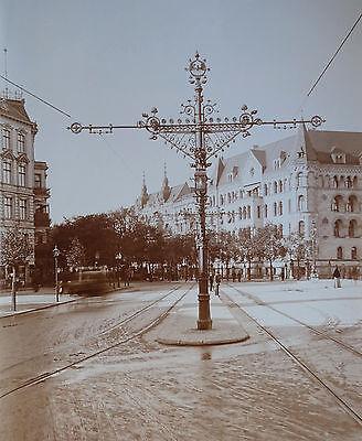 Berlin. Titzenthaler (?): Straßenbahn-Oberleitung um 1890