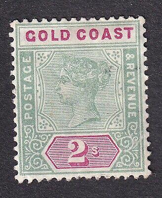 Gold Coast  1898  2/- green/carmine mint hinged