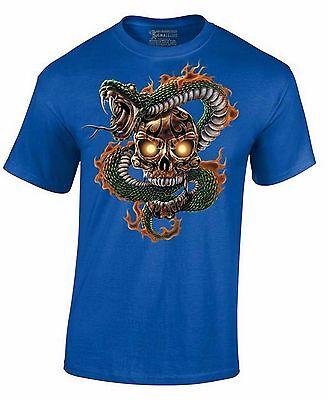 Sugar Skull and Snake Day Of Dead Halloween Dia De Los Muertos Men's Shirt - Dia De Los Muertos And Halloween