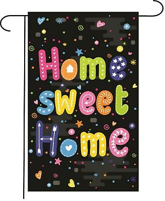 - Home Sweet Home Welcome Garden Flag Banner 12x18 2-Sided Heavy Duty Yard Decor