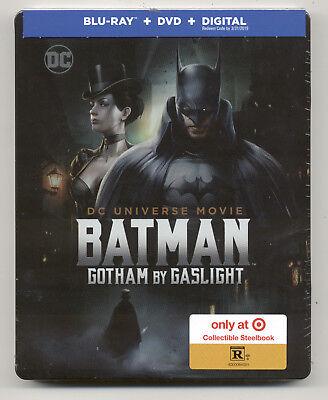 Batman: Gotham by Gaslight Blu-ray/DVD/Digital, 2018 Target Steelbook Exclusive