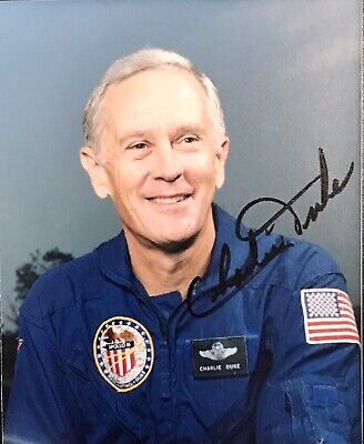 CHARLIE DUKE Signed Photo..APOLLO 16 Astronaut..Youngest MOON WALKER